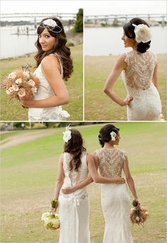 Lacy back= gorgeous and delicate