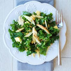 Kale Salad with Apples, Cheddar, Roasted Chicken, and Pumpkin Seeds   - Delish.com