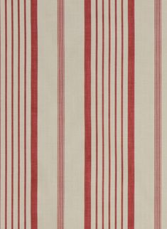 This strong raspberry red stripe printed on a herringbone is a classic. Works with many others in our collection, great for the boys too!
