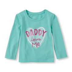 Long Sleeve 'Daddy Loves Me' Graphic Tee