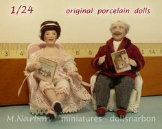 Half inch scale, custom dolls by Maria Narbon