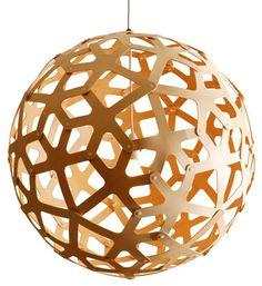 Suspension Coral / Ø 60 cm Bois naturel - David Trubridge - Décoration et mobilier design avec Made in Design