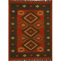 <li>Add interest to your home decor with hand-woven rug</li> <li>Transitional rug features southwest pattern with shades of beige and brown</li> <li>Flatweave area rug is crafted of jute and wool mix</li>