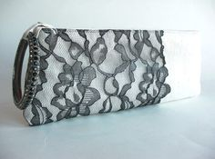black lacy clutch  (by keepbags)