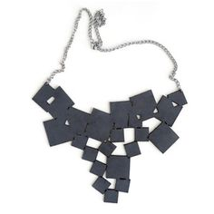 Tumble Squares Necklace Gray, $50, now featured on Fab.