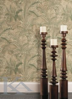 Candle decor and wallpaper Toile Wallpaper, Pet Birds, Candle Holders, Relax, Leaves, House Design, Candles, Room, Passport