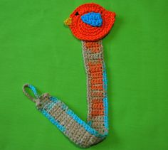 Little Bird Pacifier clip / holder crochet by LittleYeya on Etsy, €9.00