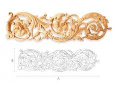 تقليم الزخرفية على الأثاث مصنوع من الخشب. لوحات منحوتة. صور - ستافروس