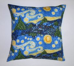 Throw Pillow Cover Starry Night Pillow Cover by PersnicketyHome