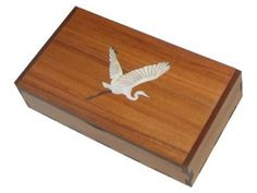 Wooden Trinket Box /Memory Box - New Zealand Heron | Shop New Zealand