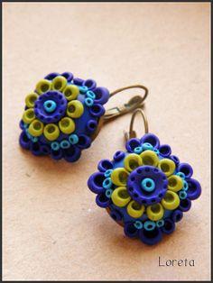 Flickr photo earring by Loreta; interesting shapes