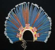 Native American Headdresses: Feather and Horned Warbonnets, Porcupine Roaches, Beaded Headbands, Basket Hats and other American Indian Headdress