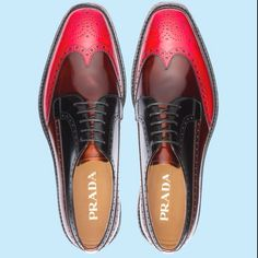 to DIE for Brogue Wingtip Oxfords...I'd rock the red any day!