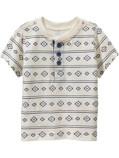 Patterned Henleys for Baby Product Image