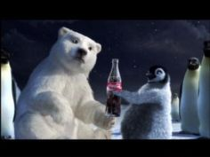 Coke Polar Bear with Penguin Sharing