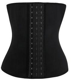 corset Serre-taille latex noir push up bustier Minceur Guepiere Lingerie Acier,Taille M