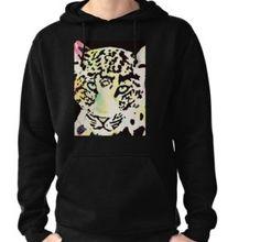 'Neon leopard' by Wolfteamshop Hoodies, Sweatshirts, Graphic Sweatshirt, Sweaters, Stuff To Buy, Shopping, Fashion, Moda, Fashion Styles