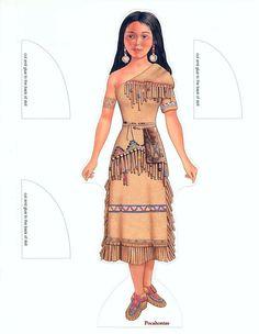 Pocahontas paper dolls by Peck Aubry - Nena bonecas de papel - Picasa Albums Web