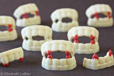 The Spookiest Halloween Candy Recipes: White Chocolate Vampire Teeth