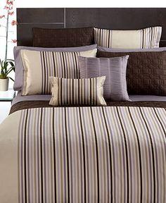Hotel Collection Bedding, Quadrus Stripe Collection - Bedding Collections - Bed & Bath - Macy's