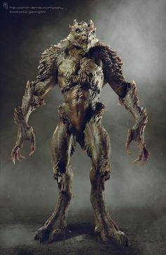"""Could this be """"The Beast"""" in it's most ancient form? With protective plating and skin to withstand the sun. Humanoid Creatures, Alien Creatures, Fantasy Creatures, Fantasy Monster, Monster Art, Creature Feature, Creature Design, Fantasy Races, Fantasy Art"""