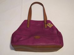 Fossil ZB5620663 Zoey Shopper Grape Multi purse soft leather NWT 168.*^ #Fossil #TotesShoppers