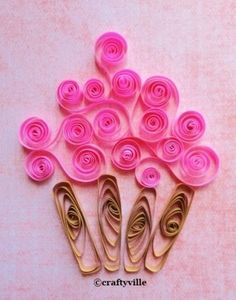 Cupcake quilling patterns