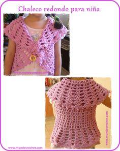 Chaleco redondo a crochet para niña: patrón y paso a paso