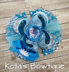 Elsa Frozen Boutique bow by KotasBowtique on Etsy
