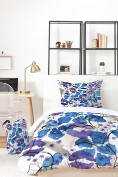 Elena Blanco Purple kisses Bed In A Bag | DENY Designs Home Accessories