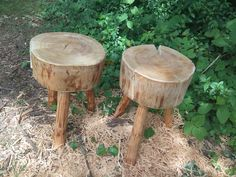 Little stools made from cherrry wood.,