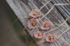 chocolate silk newborn flower tieback by PrettyLuxeDesigns on Etsy, $12.00