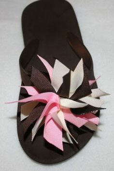 Ribbon covered straps - I've done these, and they are super cute and wearable.