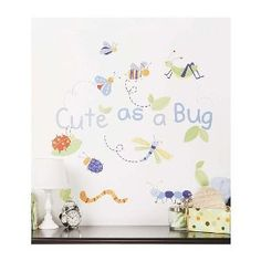 Little Boutique Cute As a Bug Wall Decals