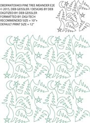 Christmas tree quilting pantograph