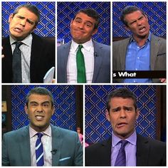 Another pinner wrote: OMG! I looooove Andy Cohen! Expression are hilarious Cohen Funny Facial Expressions, Andrew Cohen, Hilarious, Funny Shit, Funny Stuff, Man About Town, Bravo Tv, Thanks For The Memories, Hot Guys