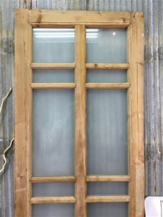Diy Interior French Doors, Antique French Doors, Sliding French Doors, Glass French Doors, Double Doors, French Antiques, Wooden Window Shutters, Window Wall Decor, Old Wood Doors