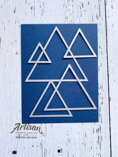 Business Stamps, Right Triangle, Up For The Challenge, Waste Paper, Masculine Cards, 30th Birthday, Geometric Shapes, I Card, Stampin Up