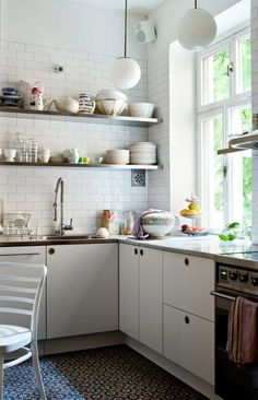 (by Camilla Krishnashwamy)    white kitchen