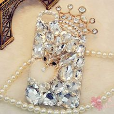Bling 3D Crown Crystal Diamond Clear Rhinestone Back Phone Case For Cell Phones #UnbrandedGeneric