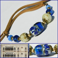 Ca'd'Oro Bohemian Lampwork necklace Boho Chic by MarianneMerceria