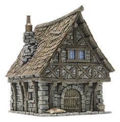 Building the medieval city - Page 60 Clay Houses, Miniature Houses, Figurine Warhammer, Minecraft Medieval, Fantasy Model, Illustration Noel, Medieval Houses, Wargaming Terrain, Modelos 3d