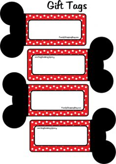 Mickey Free Printable: tags, bookmarks, banners,etc. Minnie and other characters also.