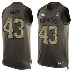 Nike Broncos #43 T.J. Ward Green Men's Stitched NFL Limited Salute To Service Tank Top Jersey