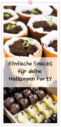 4 simple snacks for your Halloween party Halloween is getting closer and so does the search for the Halloween Buffet, Halloween Party, Happy Halloween, Muffins, Couscous Salat, Easy Snacks, Mole, Pudding, Make It Yourself