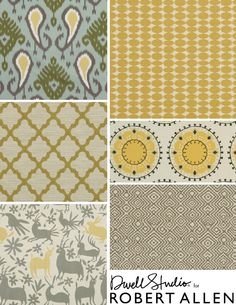 DwellStudio for Robert Allen Global Modern Luxe collection - Love these colors and patterns.