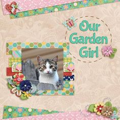garden girl - My Scrapbook Art Gallery