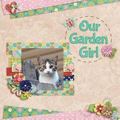 garden girl - My Scrapbook Art Gallery