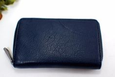 New FOSSIL Camden Navy Blue Leather iPhone 5 5s Zip Around Case Wallet SML118340 #FOSSIL