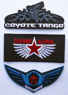 Amazon.com: Collectible Pacific Rim Movie JAEGERS Gipsy Danger Cherno Alpha Coyote tango [SET OF 3] Patches: Everything Else